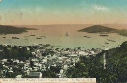 "View Of "" Charlotte Amalia "" Looking Towards Harbour St Thomas D.W.I. Taylor P. Used To Jacmel Haiti 1912 - Isole Vergini Americane"