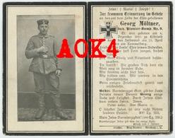 Sterbebild Doodsprentje Kemmelberg 1918 Dranouter Heuvelland Möltner Pionier Flandern - 1914-18