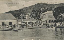 St Thomas D.W.I.  Tourists Day , King's Wharf  .P.Used 1906 Lightbourns Sent To Blanche De La Panouse - Vierges (Iles), Amér.