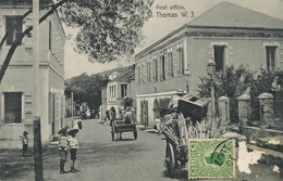 St Thomas D.W.I.  Post Office  Used 1907 To Montsauche Enfants Assistés De La Seine Edit Edw. Fraas 1 Stamp Removed - Vierges (Iles), Amér.