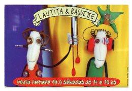 FLAUTITA Y BAGUETTE, LITERATURA POR RADIO LA GRIETA - POSTAL PUBLICIDAD ARGENTINA CIRCA 2000 - LILHU - Otros