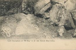 "St Jan D.W.I.  Carib Inscriptions At "" Rif Bay ""  Edit Lightbourns. P. Used . Light Defect Bottom Right Corner - Vierges (Iles), Amér."