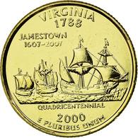 Monnaie, États-Unis, Virginia, Quarter, 2000, Golden, SUP, Copper-nickel - 1999-2009: State Quarters