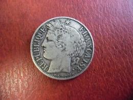 FRANCE 1 FRANC CERES ARGENT 1895 A @ état TB @ 23 Mm Pour 5 Grammes - France