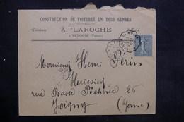 FRANCE - Enveloppe Commerciale De Venouse Pour Joigny En 1903 - L 35224 - Marcophilie (Lettres)