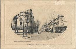 D92 - PUTEAUX - ANGLE DE LA PLACE DE LA MAIRIE - Café Des Sports-Hôtel-Charrette-Cliché Ovale - Puteaux