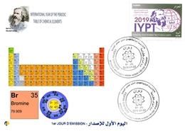 DZ Algeria 1836 2019 Anno Internazionale Della Tavola Periodica Elementi Chimici Dmitry Mendeleev Chimica Bromo - Química