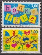 Bonne Fete - FRANCE - Joyeux Anniversaire - Souhaits - N° 3045-3046 - 1997 - France