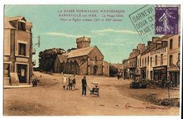 BARNEVILLE-sur-MER La Plage Idéale La Place & Eglise Romane Le Goubey - Barneville