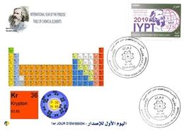 DZ Algeria 1836 2019 Anno Internazionale Della Tavola Periodica Elementi Chimici Dmitry Mendeleev Chimica Criptón - Química