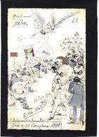 CPA La FLECHE Satirique Franc Maçonnerie Litho Papier à La Forme Tirage Limité En 40 Ex. Voir Dos Combes Scatologie - Filosofia & Pensatori