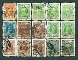 USSR, 1927; Lot Of 15 Used Stamps:from Set MiNr 339-353: 339, 340, 341, 342, 344, 345, 346, 349 - 1923-1991 USSR