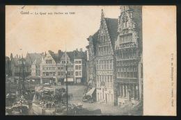 GENT  - LE QUAI AUX HERBES EN 1840 - Gent