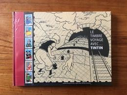 Livre Timbré - Le Timbre Voyage Avec ... Tintin - Neuf Sous Blister - Autres
