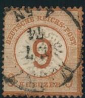 1874, 9 Auf 9 Kreuzer  Gestempelt, Links Nachgezähnt. Michel 600,-,günstiger Kückenfüller - Deutschland