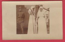 Guerre14-18 / Oorlog14-18- Koningin Astrid En Prins Leopold III/La Reine Astrid Et Le Prince Léopold III -carte Photo - War 1914-18