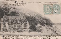 Rare Cpa Carolles Sur Mer L'hôtel Casino Sur La Plage - Frankreich