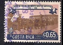 Costa Rica 1968 - Airmail - The 50th Anniversary (1966) Of Scout Movement In Costa Rica - Costa Rica