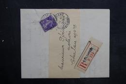 FRANCE - Lettre En Recommandé De Louhans Pour Chalons En 1913 , Affranchissement Semeuse - L 35231 - Marcophilie (Lettres)