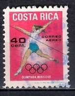 Costa Rica 1969 - Airmail - Olympic Games - Mexico - Costa Rica
