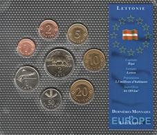 0057 - 'DERNIERES MONNAIES EN EUROPE' Lettonie - 8 Pièces : 1 Santimi à 2 Lati - Lettland
