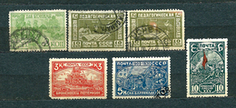 USSR, 1930; Lot Of 6 Used Stamps: MiNr 385, 389 And Set 394-396 - 1923-1991 USSR