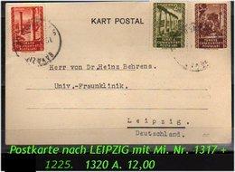 EARLY OTTOMAN SPECIALIZED FOR SPECIALIST, SEE....Postkarte Nach Leipzig - 1921-... República