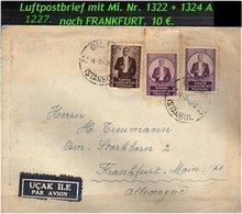 EARLY OTTOMAN SPECIALIZED FOR SPECIALIST, SEE....Luftpostbrief Nach Frankfurt - 1921-... República