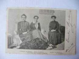 CPA Affaire Humbert 1903 Thérèse Et Eve Humbert Marie Daurignac Prison Madrid Dos Non Divisé - Storia