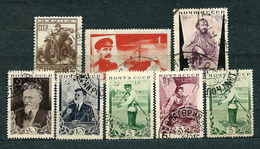 USSR, 1932-1935; Lot Of 8 Used Stamps: MiNr 407, 499, 536 A, Set 532-535 + Additional 533 - 1923-1991 URSS