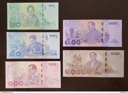 Thailand Banknote Commemorative 2017 King Bhubiphon Rama IX 20-50-100-500-1000 (Royal Duties) - Thailand