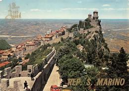 Cartolina Repubblica Di San Marino Francobolli Al Retro - San Marino
