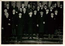 190719 - PHOTO DE PRESSE 1938 - PARIS POLITIQUE - Nouveau Ministère CHAUTEMPS Et Ses Collaborateurs à L'Elysée - Personalidades Famosas