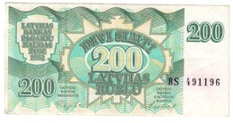 Latvia 200 Rublus 1992 .J. - Lettonia