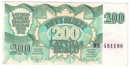 Latvia 200 Rublus 1992 .J. - Lettonie