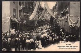 TARARE . Fête Gymnique Des 29 Et 30 Juin 1912.Décoration Rue De La République. - Tarare