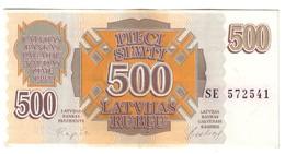Latvia 500 Rublus 1992 .J. - Letland