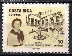 Costa Rica 1988 - Airmail - The 100th Anniversary Of Girls' High School - Costa Rica