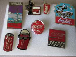 PIN'S   LOT  8  COCA  COLA - Coca-Cola