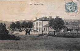 CPA. -  France >[69] Rhône > Cours-la-Ville > La Gare Animée - Daté 1907 - BE - Cours-la-Ville