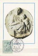 ITALIA - FDC MAXIMUM CARD 1975 - MICHELANGELO - TONDO PITTI - MUSEO BARGELLO IN FIRENZE - Cartoline Maximum