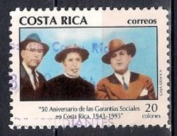 Costa Rica 1993 -  The 50th Anniversary Of Guaranteed Social Rights - Costa Rica