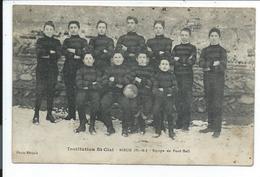 Rieux,prix Revu,carte Assez Rare Equipe De Foot Ball De L'institution St Cizi - Francia