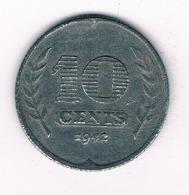10 CENTS  1942 NEDERLAND /7027/ - [ 3] 1815-… : Kingdom Of The Netherlands