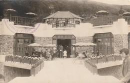 Rare Photo Carte Avec Tampon Donville Les Bains - Frankreich