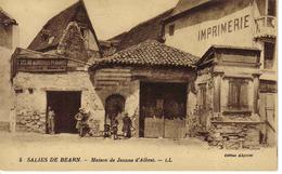 64 Salies De Béarn N°5 Maison De Jeanne D'Albret Vieux Métiers Enseigne Laclau Maréchal Ferrant A Droite Imprimerie. - Salies De Bearn