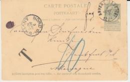 CARTE POSTALE USED 1894 ARMOIRIES - Entiers Postaux