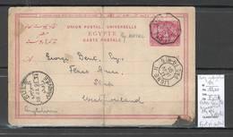 France - Entier Egypte -  Ligne N -1891 - Paquebot NATAL - Pour L'Angleterre - Postmark Collection (Covers)