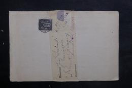 FRANCE - Lettre Pour Chalon / Saône En 1886 Et Retour, Affranchissement Sage 1ct - L 35240 - Marcophilie (Lettres)