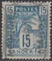 Maroc Postes Locales - Tanger à Fez - N° 123 (YT) N° B3 (AM) Oblitéré. - Postes Locales & Chérifiennes